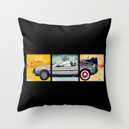 DeLorean DMC-12 - Cinema Classics Throw Pillow