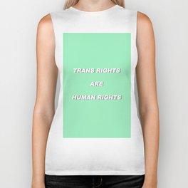 Trans Rights are Human Rights Biker Tank