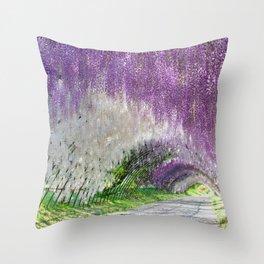 Wisteria Gardens Throw Pillow