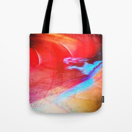 Orange and Red Abstract splash Tote Bag