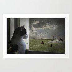The Taunted Art Print