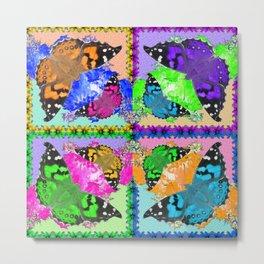 (Pop Art) Butterflies are Free! Metal Print