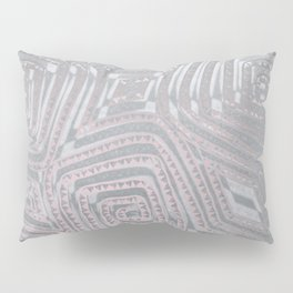 Silver Spiral Diamond Pattern Pillow Sham