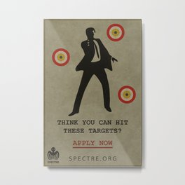 SPECTRE Recruitment Poster Metal Print