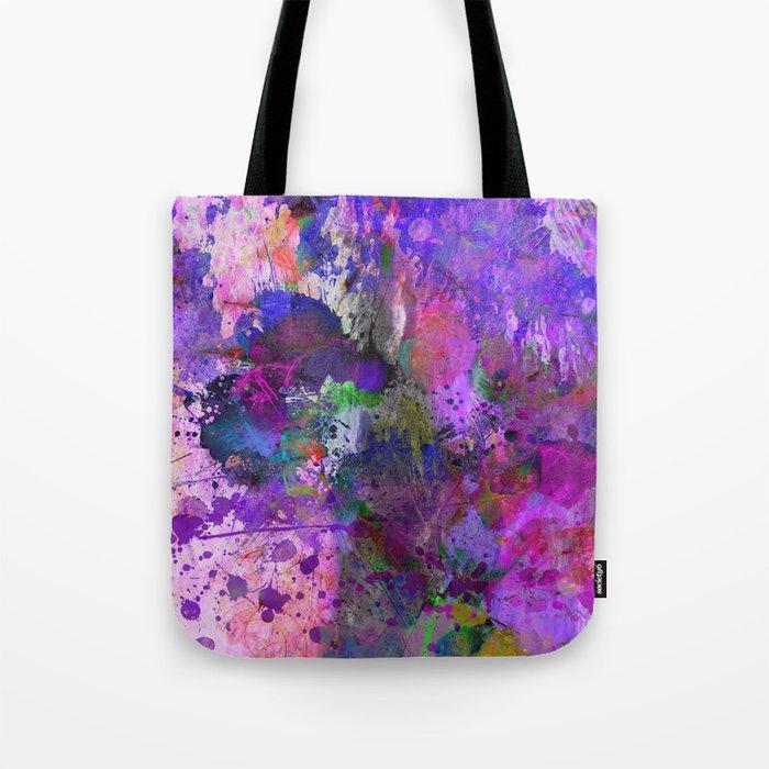 Lilac Chaos - Abstract Tote Bag
