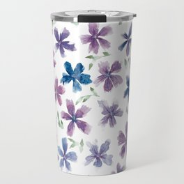 Purple Flower Travel Mug