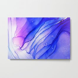 colorful alcohol ink painting pintura colorida de tinta de alcohol bunte Alkoholtintenmalerei Metal Print