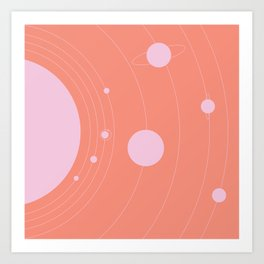 Orbit, pink Kunstdrucke