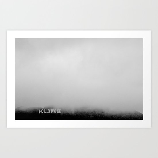 Hollywood In the Mist Art Print