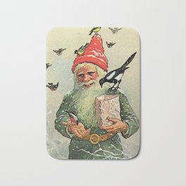 """""""A Bag of Birdseed"""" by Jenny Nystrom Bath Mat"""