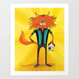 'Lucky Strike Champion Bowler' Art Print
