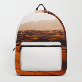 Minimalist Desert Landscape Sand Dunes With Distant Mountains Backpack