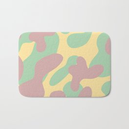Pink and Minty Shapes Bath Mat