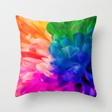 Rainbow Flower #2 Throw Pillow