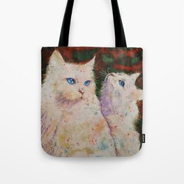White Cats Tote Bag