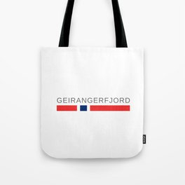 The Geirangerfjord Norway Tote Bag