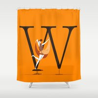 eames Shower Curtains featuring Willow & Eames by ChicksAndType