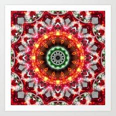 Christmas Snowflake Mandala Art Print
