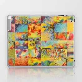 COLORFUL INDECISION 1 - Bold Bright Beautiful Abstract Acrylic Painting Collection Nature Rainbow Laptop & iPad Skin