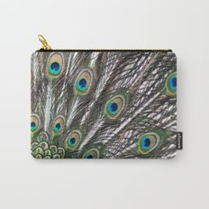 Green Peafowl Feathers Carry-All Pouch