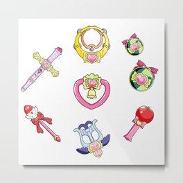 cute tokyo mew mew items pattern Metal Print