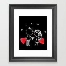Love Valentine's Day. Wedding. Framed Art Print