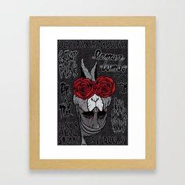 Sturgis Rabbit concert poster Framed Art Print
