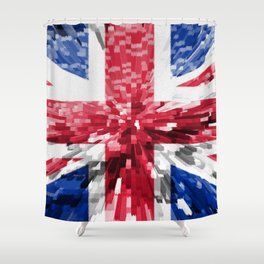 Extruded Flag of the United Kingdom Shower Curtain