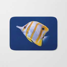 Copperband butterfly fish Bath Mat