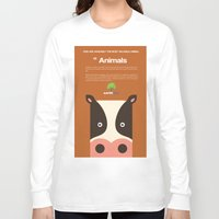cows Long Sleeve T-shirts featuring Save Cows by Fun Factory