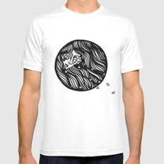 Circle Lady 1 MEDIUM Mens Fitted Tee White