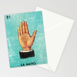 La Mano Mexican Loteria Bingo Card Stationery Cards