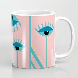 Unamused Eyes - Art Deco Coffee Mug