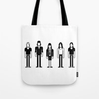 dc Tote Bags featuring AC/DC by Band Land