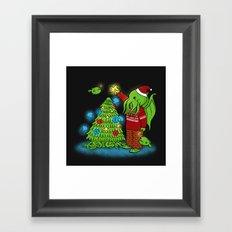 Cthulhu's Happy Holidays Framed Art Print