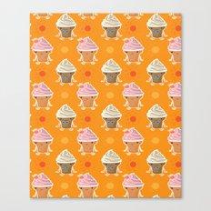 ice cream and sun bath Canvas Print