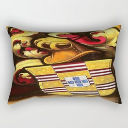 Knightarms in stained glass Rectangular Pillow