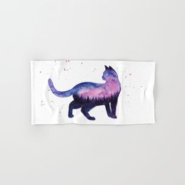 Galaxy Forest Cat Hand & Bath Towel