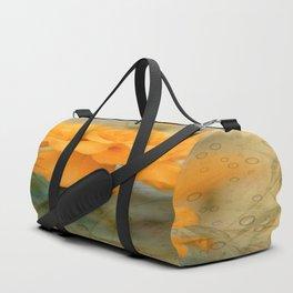 Orange Marigold  Raindrop Abstract Duffle Bag