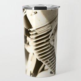 Motorbike engine close-up view Travel Mug
