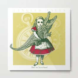 Tangled Tales - Alice in Neverland Metal Print