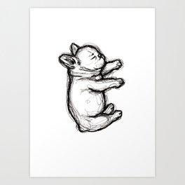 Sleeping French Bulldog Art Print