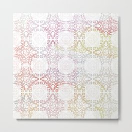Floral Lattice Metal Print