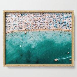 Ocean Beach Art, Aerial Photography, Aerial Beach Print, Printable Art, Sea Print, Ocean Poster, Modern Beach Print Serving Tray