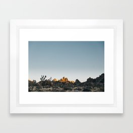 Fading Sun in Joshua Tree Framed Art Print