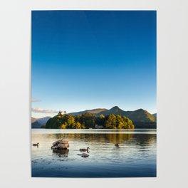 Ducks on Lake Derewentwater near Keswick, England Poster