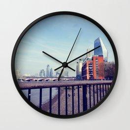 Vintage london skyline Wall Clock