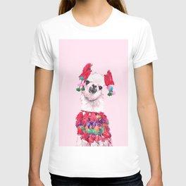 Llama in Colourful Costume T-shirt