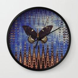 butterfly city Wall Clock