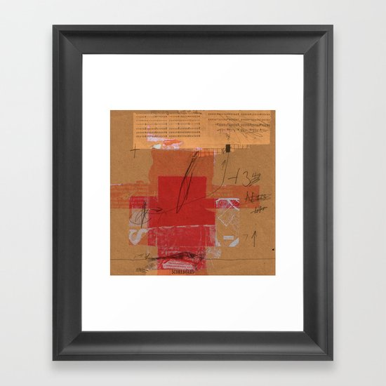 CROSS OUT #4 Framed Art Print